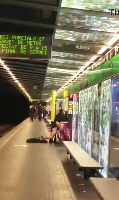 couple Fucking in the subway station