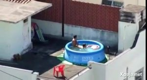 Caught fucking in the pool