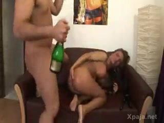 Champagne in the ass