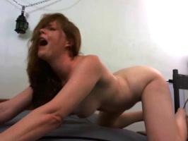 machine pleasure  puts her in a loud scream