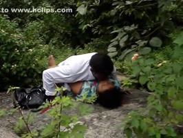 Amateur couple sex caught on the riverbank