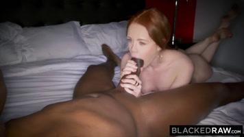 Blonde interracial sex riding big cock