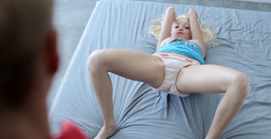 cute innocent blonde riding hd video